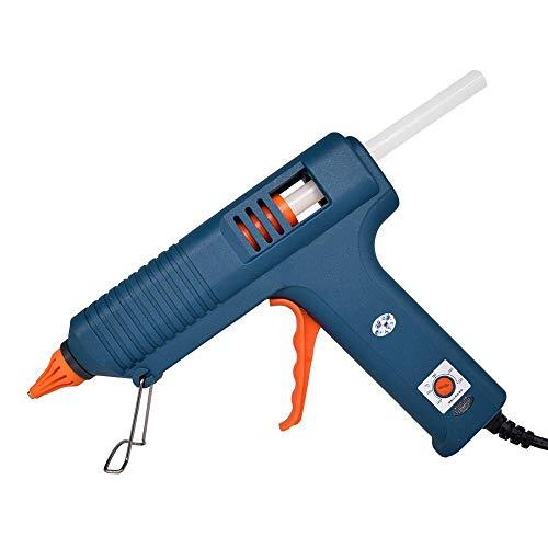 Pistola silicona caliente profesional, juego pistola pegamento temperatura ajustable, diseño boquilla antifugas, uso industrial en el hogar, para manualidades, reparaciones rápidas, oficina escolar