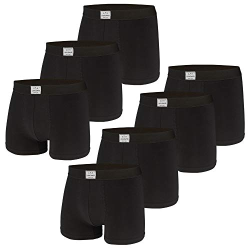 Luca David, Herren Boxershorts, Jersey Trunks, 7er Pack (M / 5, schwarz)