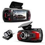 Range Tour Z4 Plus In Car Dash Camera Front and Rear Dual Camera 2.7' LCD Screen Dash Cam DVR Driving Recorder with G-Sensor Loop Recording Motion Detection