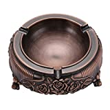 SENYON ヨーロッパ風 ポータブル ミニ 灰皿 レトロ (赤銅色)