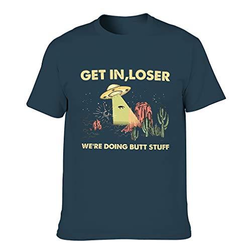 GET IN Loser T-Shirt für Männer Humor Sarkasmus Top Navy m