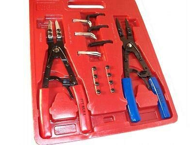 """(Best tools) 2 PC.10"""" H D RATCHET TYPE CIRCLIP REMOVER INSTALLER SNAP RING PLIERS SET"""