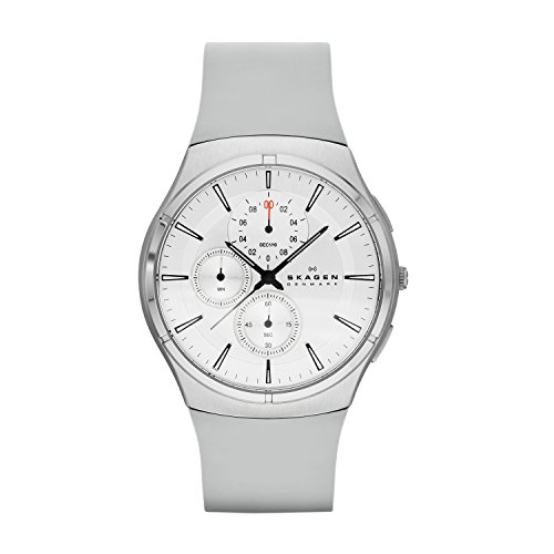 Skagen Herren-Armbanduhr XL Chronograph Quarz Silikon SKW6132
