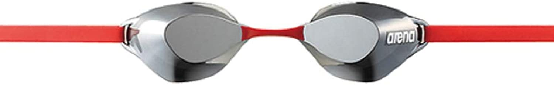 Arena Defogging Swim Goggle Non cushion type (mirror processing) silver X smoke X red FREE AGL130M