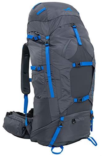 ALPS Mountaineering Caldera Internal Frame Backpack 75L, Gray/Blue