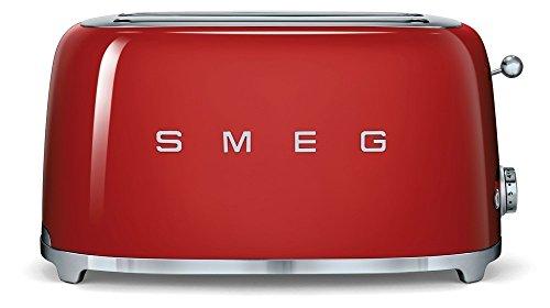 Smeg TSF02RDEU Toaster 4 Scheiben, rot