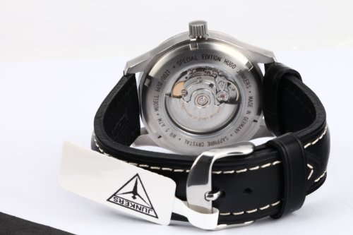 Junkers Herren-Armbanduhr XL Hugo Analog Automatik Leder 66502