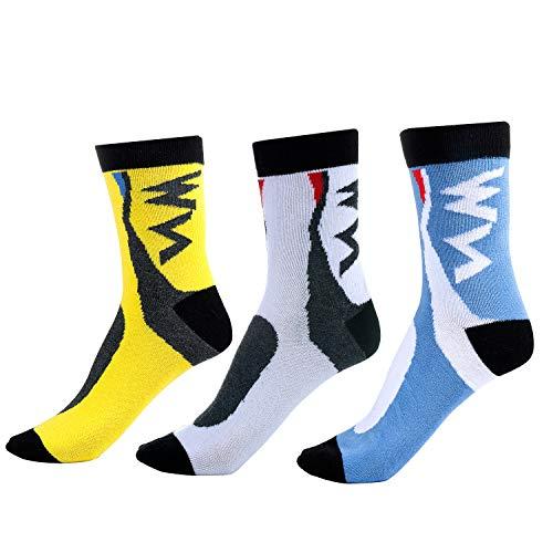 Vordas 3 Paires Chaussettes de Cyclisme Femme Homme, Chaussettes de Sport, Convient pour Le Cyclisme, La Randonnée, L'alpinisme (Taille: 39-42)