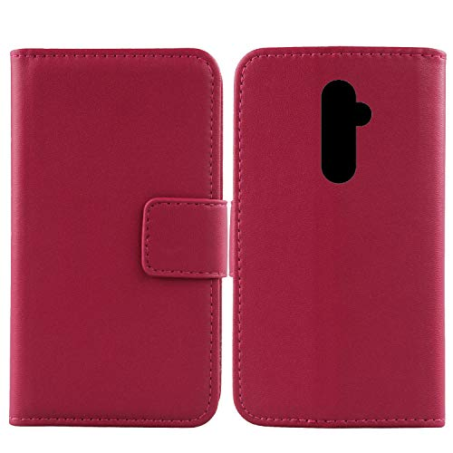 "Gukas Design Genuine Leather Case for NUU G3 5.7"" Wallet Premium Flip Protection Cover Skin Pouch with Card Slot (Rose)"