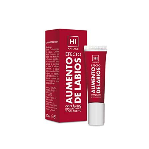HI - Hi Antiage - Efecto Aumento de Labios - Gel para Aumentar Labios: Volumen, Hidratación y Disminución de Arrugas con Sabor a Fresa - Voluminizador Labios 10 ml