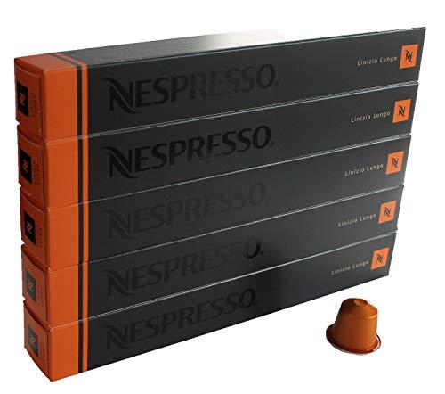 Nespresso Cápsulas Naranja - 50 X Linizio Lungo