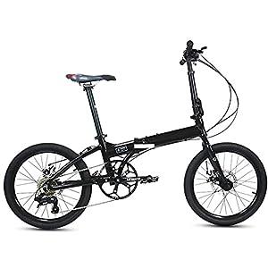 41VRM0rS25S. SS300 GWL Bici Pieghevole, Bicicletta da Corsa per Adulti con Freno a Doppio Disco, Telaio in Acciaio Ad Alta Carbonio, 20 Pollici, Bicicletta di Utilità Cittadina per Le Donne