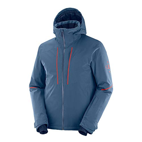 Salomon Herren Edge Ski Jacket, Blau (Dark Denim), M EU