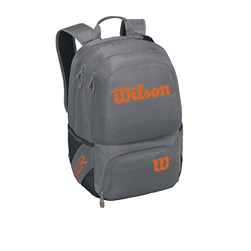 Wilson Tour V Backpack Medium Gyor Mochila, Unisex Adulto, Gris (Grey/Orange), 36x24x45 cm (W x H x L)