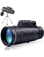 40 x 60 teleskop monokulär för telefon med klämma och stativ kraftfull HD zoomomfattning militär camping optisk superlång teleobjektiv