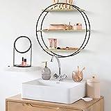 FurnitureR Estantería de pared redonda, estantería para libros, estantería decorativa flotante, estantes de madera para sala de estar, dormitorio, estantes de cocina, estantería Shabby Chic 50 *...