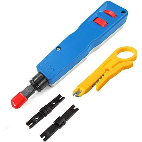 Fanuse Herramienta de PerforacióN de Impacto, Hoja Herramientas de Corte de InstalacióN de PerforacióN de Cables de Red para RJ45 Cable de Cable Gato Pelador de Cable