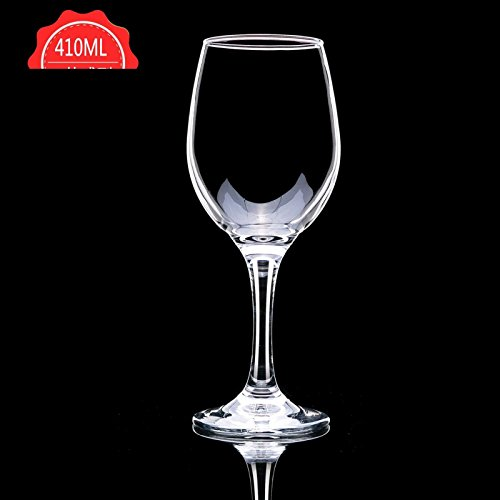 JARONG Vin Rouge Tasse Tasse Pied Haut Accueil sans Plomb,410Ml