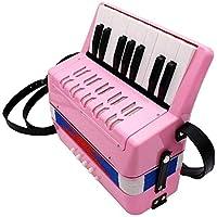 キッズアコーディオン子供アコーディオン17キーボタンアコーディオンミュージカル玩具5歳以上の子供のための子供のための子供の楽器を演奏するのは簡単な子供の頃の開発アコーディオン(色:緑、サイズ:23x10x23cm) Jialele (Color : Pink, Size : 23x10x23cm)