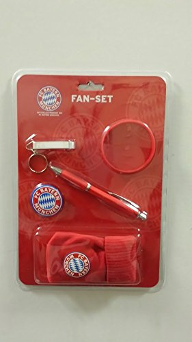 FAN-Set FC Bayern [Button. Armband. Handysocke. Flaschenöffner. Kugelschreiber]