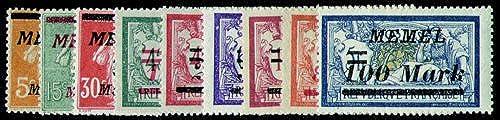 Goldhahn Memel Nr. 110-118 postfrisch Briefmarken für Sammler