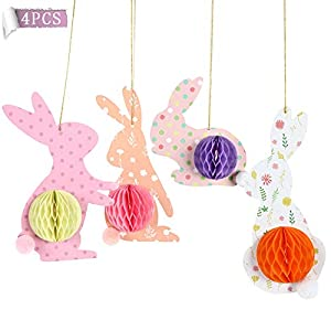 ✿ WHAT YOU RECEIVE: There are 4 pieces bunny in one set bunny decor in different shape and color, each bunny has 1 lovely plush tail, sufficient quantity and different colors to satisfy your festival daily use demands. ✿ NOVELTY WINDOW DECOR: Spring ...