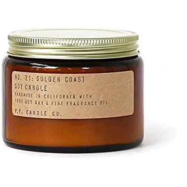 P.F. Candle Co. - No. 21: Golden Coast Soy Candle (Double Wick (14 oz))