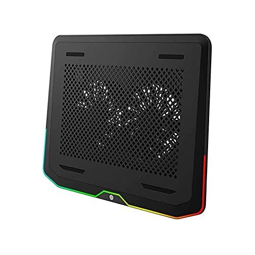 ZUIZUI Ordenador portátil de enfriamiento portátil con 2 Ventiladores de enfriamiento Tranquilo, cofriador de Cuaderno de Confort ergonómico, Juego de Enfriador de Laptop de Juego Ligero