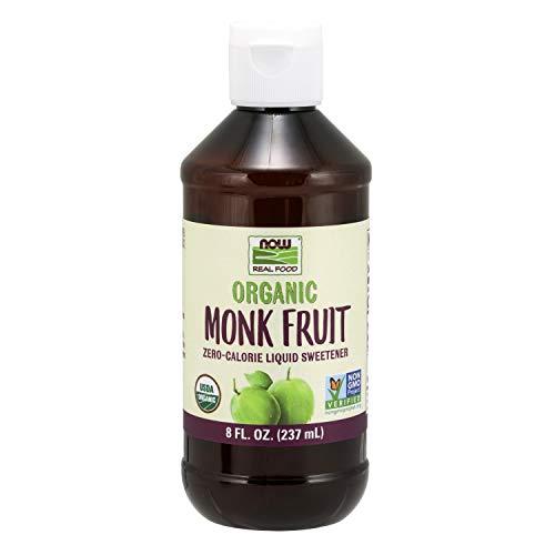 NOW Foods, Organic Monk Fruit Liquid, Zero Calorie Sweetener, 8-Ounce