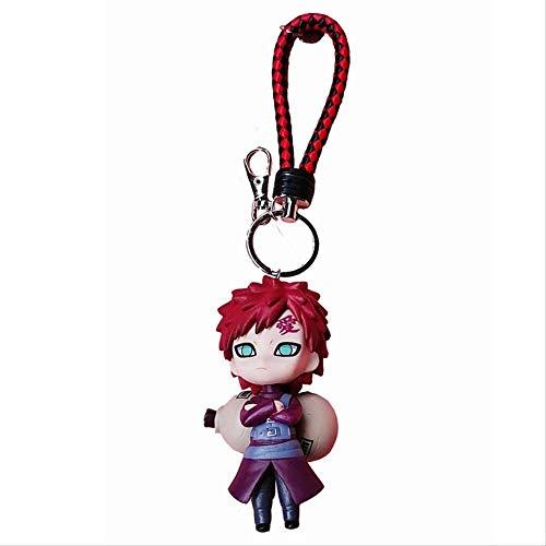 TQGG 6 Stück 9-10 cm Naruto Acryl Schlüsselanhänger Kakashi Gaara Sasuke Akatsuki Mitglieder Schlüsselbund Anhänger Schlüsselring Cos Spiel Geschenk