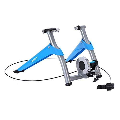 ZXYY Entrenador de Bicicleta para el hogar Multifuncional Soporte de Entrenamiento de Ciclismo Plegable portátil de Interior 6 Niveles Resistencias magnéticas w Volante de liberación rápida Reduc