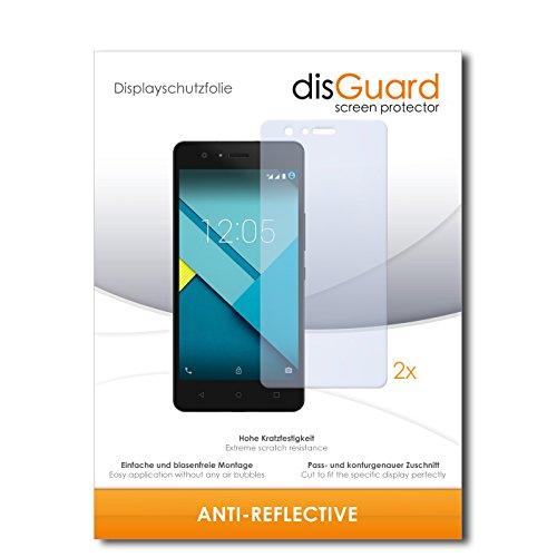 disGuard® Bildschirmschutzfolie [Anti-Reflex] kompatibel mit BQ Aquarius M5 [2 Stück] Entspiegelnd, Matt, Antireflektierend, Extrem Kratzfest, Anti-Fingerabdruck - Panzerglas Folie, Schutzfolie