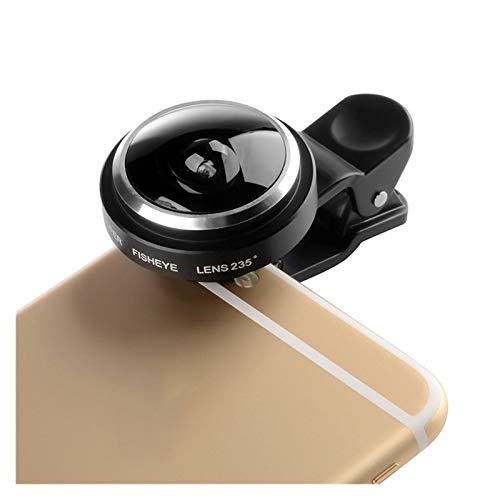 Lente de la cámara Pinza Universal 235 Grado Grande Lente Ojo de Pez Adecuada for Apple iPhone Samsung Xiaomi Huawei móvil Lente del teléfono Cubierta de la Lente telefónica