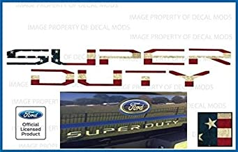 Decal Mods 2017-2019 Tailgate Decal Sticker Letter Inserts Inlays for Ford Super Duty American Flag - Worn (2017-2019) F250 F350 F450 Decals Stickers