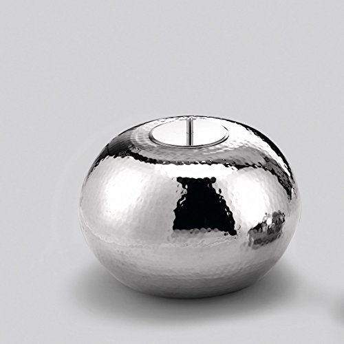 Lambert Marakesh Gefäß/Dose Vernickelt H15,5 D25 Mit Kerze Metallaccesoires, Silber, One Size