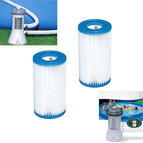 RENS 2 Stks Pool Filter Pomp voor Zwembad Type A voor Intex 28604 Filter Wadding, Vervangende Cartridge Filter Tas Filter Set Pomp Kit