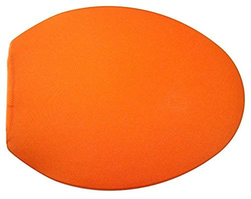 Spandex Fabric Cover for a lid Toilet SEAT fits on Round & Elongated Models - Handmade USA (Orange)