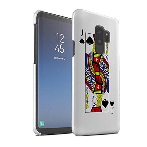 Stuff4 Matte Snap-On Hülle/Case für Samsung Galaxy S9 Plus/G965 / Pik-Bube Muster/Kartenspielen Kollektion