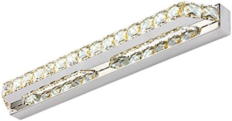 &Spiegelleuchte Crystal Mirror Front Lights, Led Einfache Badezimmer Lights Dressing Wandleuchte Wasserdichte Vanity Lights, Warm Weiß, Cool Weiß Light (Farbe   Beige-40  5cm-Cool Weiß)