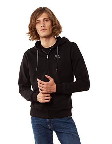 La Martina Herren Thiago Sweatshirt, Schwarz (Black 09999), Large
