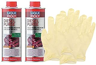 Liqui-Moly Diesel Purge Injection Cleaner (500 ml) Bundle with Latex Gloves (6 Items)