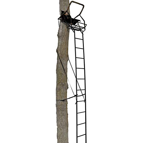 Muddy MLS1150 Stronghold 1.5 Foot Ladder Treestand, Black, One Size