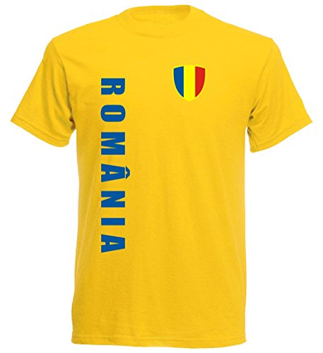 Rumänien Kinder T-Shirt - TS-10 - EM 2016 - gelb - Fussball Trikot (152)