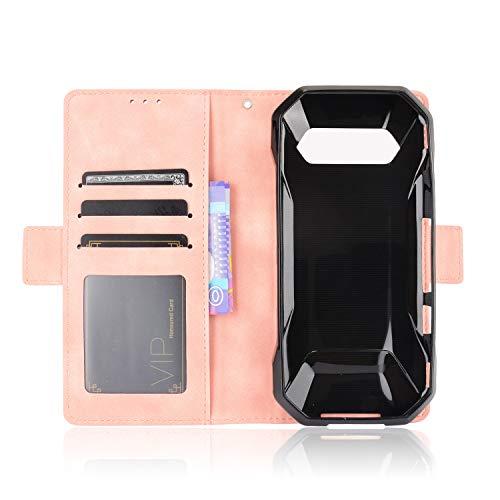 MingMing Lederhülle für Kyocera Torque 5G Hülle, Flip Hülle Schutzhülle Handy mit Kartenfach Stand & Magnet Funktion als Brieftasche, Tasche Cover Etui Handyhülle für Kyocera Torque 5G, Rosa