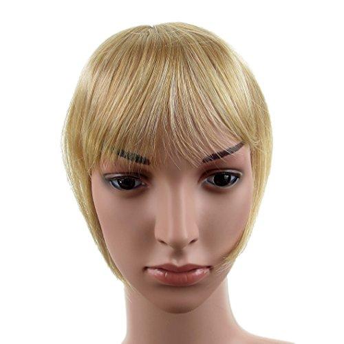 422 VANESSA GREY Toutes les couleurs disponibles, Pince Cheveux Super Frange Vraiment Naturelle Blond Doré
