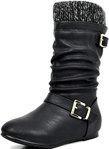 Mango 61K Little Kids Combat Lace Up Boots Black 1