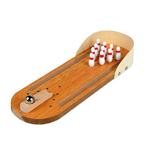 Mini Bowling Game Set Bowling Jeu Bowling En Bois Intérieur Classique Toy Bureau Jeux De Table Du Conseil Pour Les Enfants Et Adultes