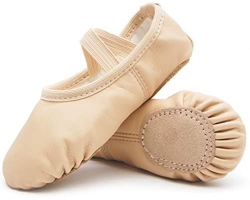 DIPUG Ballet Shoes for Girls Toddler Ballet Shoes Leather Dance Ballet...
