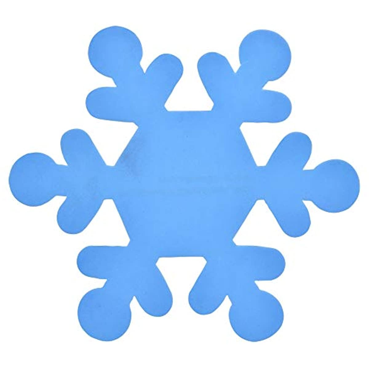 Foam Sheet for decorating Christmas (12) shapes of either trees, gingerbread men ornaments, and snowflakes. (Blue Snowflakes)