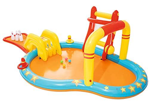 ZHMIAO Paddling Pool groß, Bowling-aufblasbares Schwimmbad für Kinder, Kleinkinder, Erwachsene, Hinterhof, Familien-Wasser-Pools, Sommer-Partygarten-Außenpool